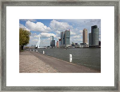 City Of Rotterdam Downtown Framed Print