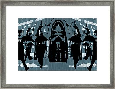 City Rain Framed Print by Dan Sproul