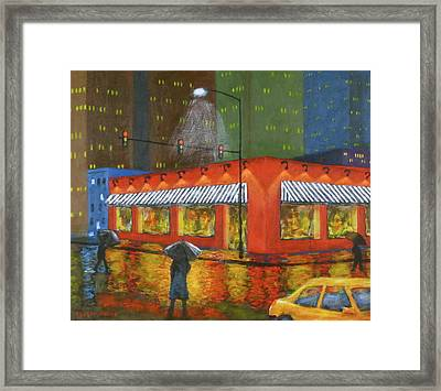 City Showers Framed Print by J Loren Reedy