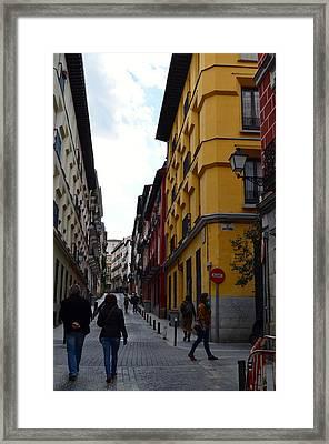 City Stroll Framed Print by Regina Avila