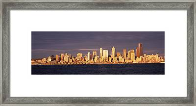 City Viewed From Alki Beach, Seattle Framed Print by Panoramic Images