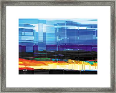 City Within Framed Print by The Art of Marsha Charlebois
