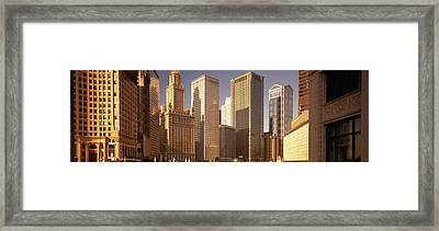 Cityscape Chicago Il Usa Framed Print by Panoramic Images