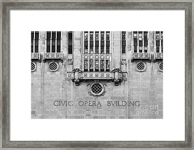 Civi Opera Building Framed Print by Twenty Two North Photography