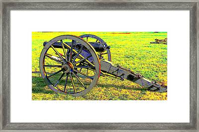 Civil War Canon By Earl's Photography Framed Print by Earl  Eells a
