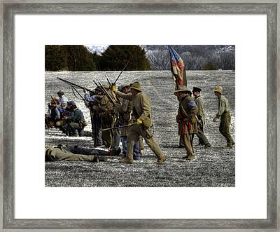 civil war confederate Troops v3 Framed Print by John Straton