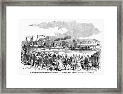 Civil War Prisoners, 1862 Framed Print by Granger
