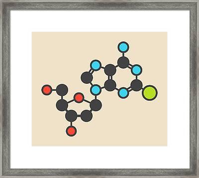 Cladribine Cancer Drug Molecule Framed Print by Molekuul