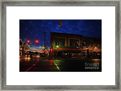 Clare Michigan At Christmas 14 Framed Print by Terri Gostola