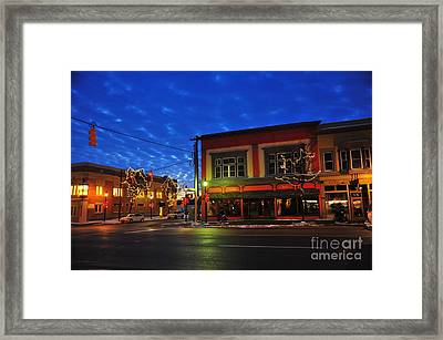 Clare Michigan At Christmas 2 Framed Print by Terri Gostola