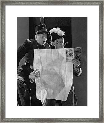 Clark And Mccullough In Strike Up The Band Framed Print