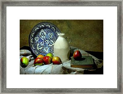 Classic Blue Framed Print by Diana Angstadt