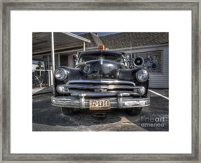 Classic Car Along Route 66 Framed Print by Twenty Two North Photography