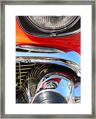 Framed Print featuring the photograph Classic Car As Art by Jeff Lowe