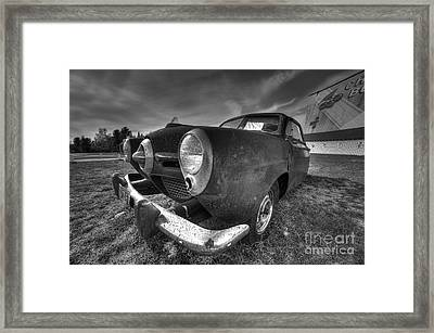 Classic Car At The Drive In Framed Print