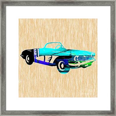 Classic Corvette Framed Print by Marvin Blaine