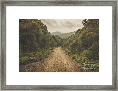 Classic Old Dirt Road Landscape In Australia Framed Print by Jorgo Photography - Wall Art Gallery