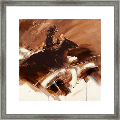 Classic Rodeo 4b Framed Print by Maryam Mughal