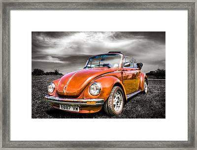 Classic Vw Beetle Framed Print by Ian Hufton