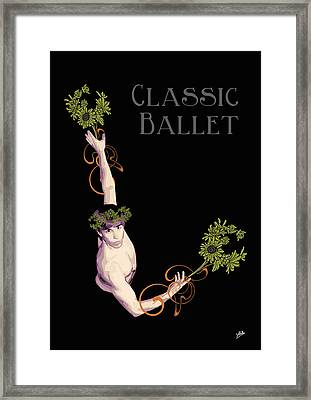 Classical Ballet Framed Print by Quim Abella