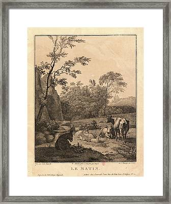 Claude Fortier French, 1755 - After 1822 And Pierre-jean Framed Print by Litz Collection