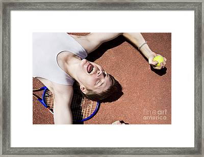 Clay Court Champion Framed Print