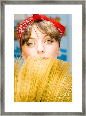 Cleaning Framed Print by Jorgo Photography - Wall Art Gallery