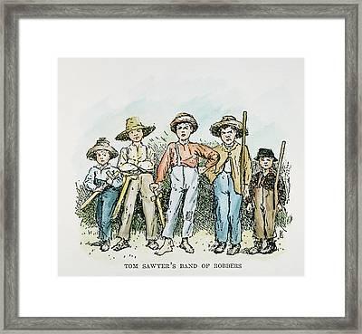 Clemens Huck Finn Framed Print by Granger