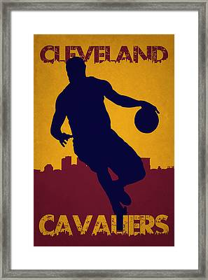 Cleveland Cavaliers Lebron James Framed Print by Joe Hamilton