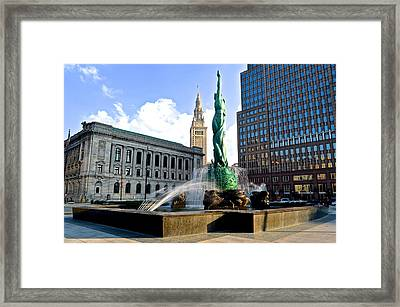 Cleveland Icons Framed Print by Frozen in Time Fine Art Photography