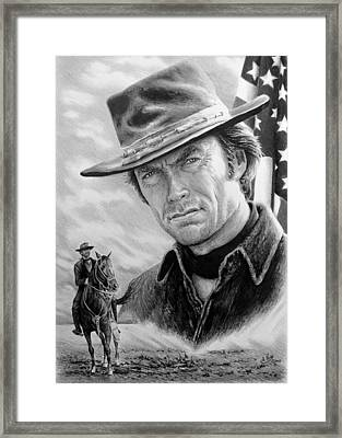 Clint Eastwood American Legend Framed Print
