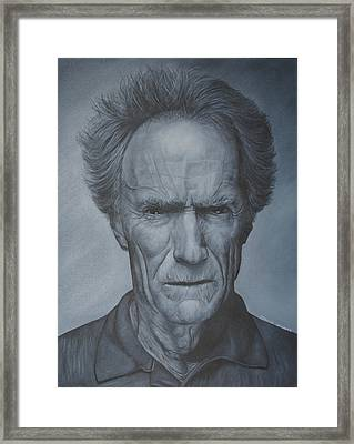 Clint Eastwood Framed Print by David Dunne