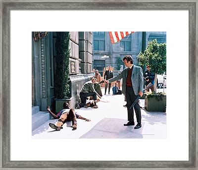 Clint Eastwood In Dirty Harry  Framed Print by Silver Screen