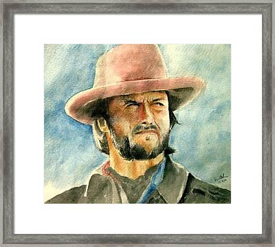 Clint Eastwood Framed Print by Nitesh Kumar