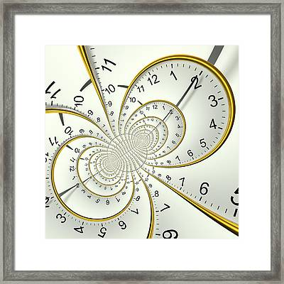 Clockface Spacetime Warp Framed Print by David Parker