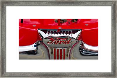 Close-up Of A Classic Car Of Ford Framed Print by Panoramic Images