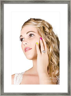 Close-up Of A Gorgeous Bride Framed Print by Jorgo Photography - Wall Art Gallery