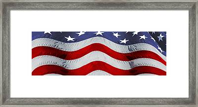 Close-up Of An American Flag Framed Print by Panoramic Images