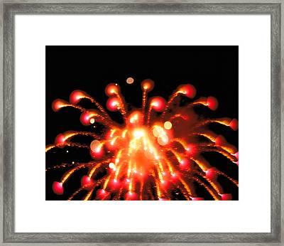 Close Up Of Ignited Fireworks Framed Print