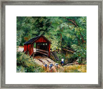 Closed To Traffic Framed Print