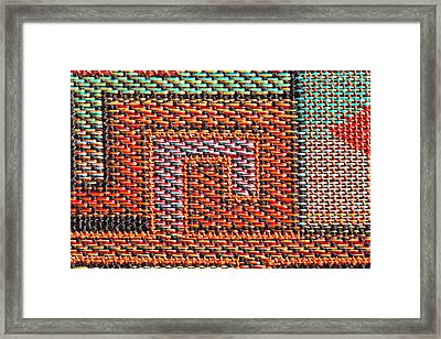 Cloth Pattern Framed Print by Tom Gowanlock