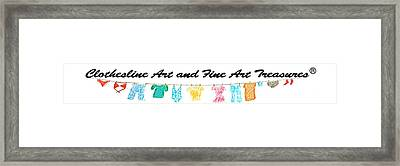 Clothesline Gallery Logo Framed Print