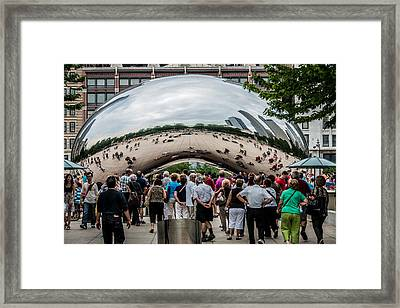 Framed Print featuring the photograph Cloud Gate by James Howe