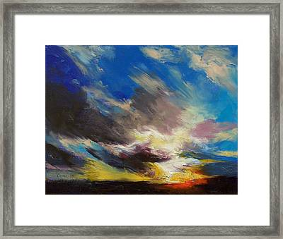 Cloudburst Framed Print by Michael Creese