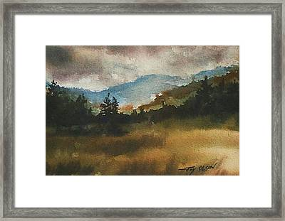 Clouds And Sunlight Framed Print