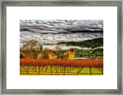 Clouds Over Napa Valley Framed Print