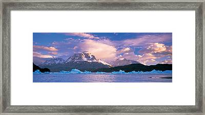 Cloudy Sky Over Mountains, Lago Grey Framed Print by Panoramic Images