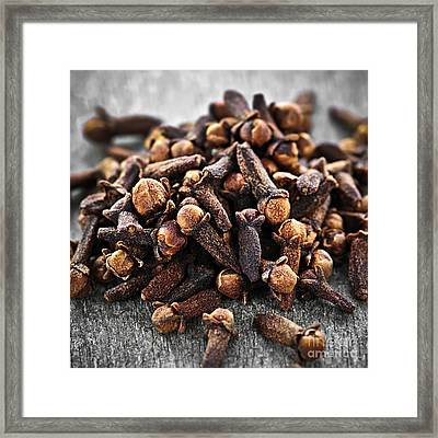 Cloves Framed Print