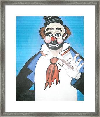 Framed Print featuring the painting Clown by Nora Shepley