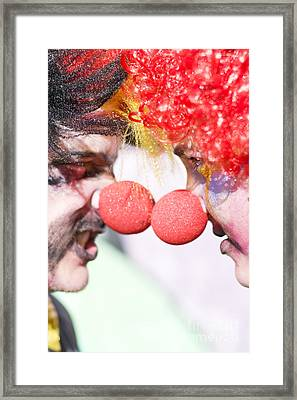 Clowns Face Off Framed Print by Jorgo Photography - Wall Art Gallery